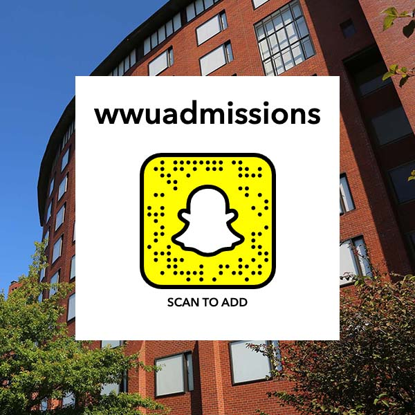Link to WWUAdmissions Snapchat