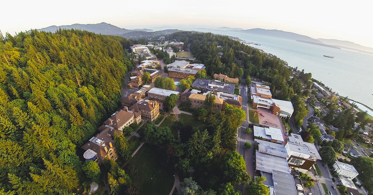 campus from drone